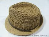 Способ Man Paper Summer Straw Hat с PU Fashion Tape (PTMSH15008-2)