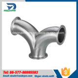 Coude sanitaire de bride de courbure d'acier inoxydable double (DY-E031)