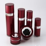 Botella privada de aire de la loción del tarro poner crema de acrílico rojo de Set4 PP para el empaquetado del cosmético (PPC-CPS-052)