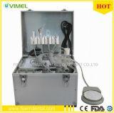 Unidad dental dental portátil Unidad de metal móvil 2 agujeros