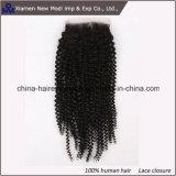 Chiusura riccia del merletto di estensione dei capelli umani della Cina