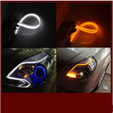 Pièces d'auto flexibles duelles de la lumière de bande de couleur de qualité 60cm DEL DRL
