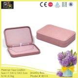 Caixa de jóia útil simples cor-de-rosa (8014)