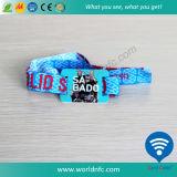 Wristband tessuto tessuto a gettare di HF RFID di NFC per il partito di festival
