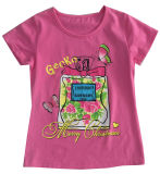 Fiore Letter Girl T-Shirt in Children Clothes Apparel con Print Sgt-073
