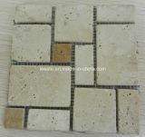 4mm Thick Travertine Mosaic、Mosaic TilesおよびフランスのPattern Mosaic