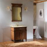 Antiker Art-Fußboden-stehende Badezimmer-Schränke mit Spiegel