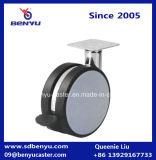 Rodízio plástico do rodízio da roda do cinza dois de Foshan