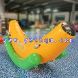 Personalizzare le banane gonfiabili gonfiabili di volo di sport della barca di banana della sosta dell'acqua/di acqua divertimento di alta qualità