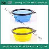 Crisol que se lava plegable del caucho de silicón de la categoría alimenticia