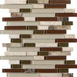 Mattonelle di superficie naturali irregolari della parete, mosaico di pietra di marmo beige