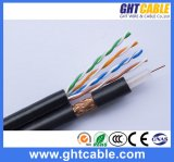 Muti-Media Network 4p Cat5e UTP Cable en RG6 Coaxial Cable