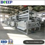 Machine de filtre-presse de courroie à l'usine de traitement des eaux résiduaires de bétail