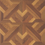 Bois de teck 8.3mm Hickory Bois V-Grooved Sound Absorving Laminated Laminated Floor