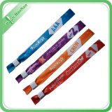 Kundenspezifisches Woven Wristband mit Disposable Buckle