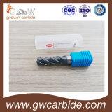 Moinho de extremidade do carboneto de tungstênio HRC45-60 com revestimento para a estaca