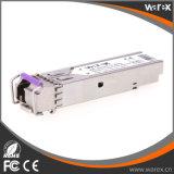 1.25G SFP BIDI 송수신기 모듈 1490nm/1550nm 80km SMF 단순한 LC