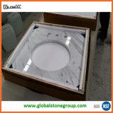 Bovenkanten van de Ijdelheid van Carrara van de Leverancier van China de Witte Marmeren voor de Decoratie van het Huis