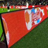 Indicador do texto do diodo emissor de luz da distância P16 da vista longa para o perímetro do estádio de futebol