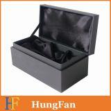Rectángulo de regalo de papel negro para el empaquetado de la herramienta