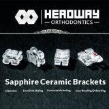 Ortodontico dalla parentesi di ceramica dello zaffiro di progresso con Ce & lo SGS