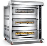 horno eléctrico de la hornada de la pizza de 3layer 6tray con el dispositivo que mide el tiempo