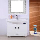 Mirrorの高品質のFloor Standing PVC Bathroom Vanity