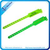Wristbands promozionali molli personalizzati del PVC di stampa del Silkscreen