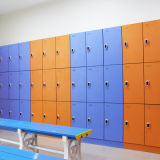 Gutes lamellenförmig angeordnetes Schließfach der QualitätsHPL für Gymnastik-/Ändernraum/Sauna-Raum