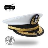 Kundenspezifischer Militärflottenadmiral ragte Schutzkappe mit schicker Goldstickerei empor