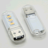 3 LED de luz Noche USB Uso de emergencia Noche Disco Light Light Shape luz LED USB