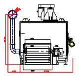Máquina de secagem da única correia de alta temperatura nova da camada