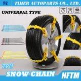 TPUの物質的で速い土台3minuetsの雪の緊急事態のためのすべり止めのチェーン車輪の鎖