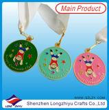 Medalha dura do metal do esmalte da medalha dos miúdos para jogos da ginástica dos miúdos