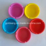 Ashtray силикона высоки теплостойкmGs нетоксического логоса /Customized Ashtray силикона круглый