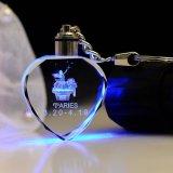 Trousseau de clés de laser de DEL pour le trousseau de clés de laser du cristal 3D de Brithday