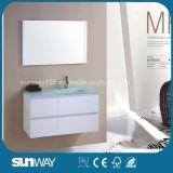 Heiße Verkauf MDF-Badezimmer-Möbel mit Glaswanne (SW-MF1201)