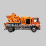 Camion mobile de pompe concrète avec le mélangeur concret
