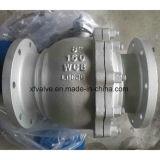 150lb 300lbの鋳造物の炭素鋼のWcbのフランジの端の球弁