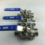 Schweres Type Female 3PC Ball Valve
