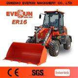 Everun Er16 Certificación CE Compacto Mini Cargadora de ruedas ( nueva generación)
