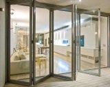 Puerta de aluminio de aluminio del doblez del BI de la doble vidriera con Flyscreen invisible