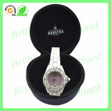 Logo su ordinazione Round Zipper EVA Watch Caso per Travelling