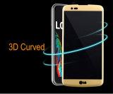 LG K10のための完全なカバー3D緩和されたガラススクリーンの保護装置