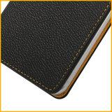 Caixa do telefone móvel do estilo da imagem de cópia do livro da aleta do couro do plutônio