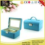 Materiaal van het Leer van de Doos van de Juwelen van Tiffany het Blauwe