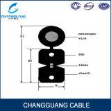 Curvar-Tipo Self-Supporting cabo do preço de fábrica de China da fibra óptica da gota com baixo fumo zero flamas de Halogon - cabo de fibra óptica retardador da bainha GJYXFCH