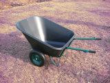 Zwei Wheel Wheelbarrow mit Plastic Tray
