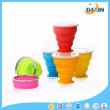 Candy Color Food-Grade Silicone en acier inoxydable Ring Folding Cup