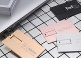 Kreditkarte USB-Laufwerke, Metallkarten-Speicher, Metallkartenspeicher, Metallkarbonyl-Karten-Speicher, farbenreiches gedruckt